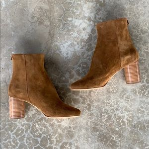 Sandro Sacha Boot in Brown Suede